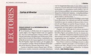 Roque Guinart. La Opinión de Murcia.15.08.15